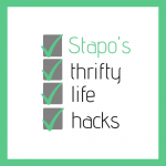 Stapo's thrifty life hacks logo